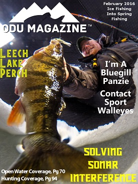 ODU Magazine Ice Fishing February 2016