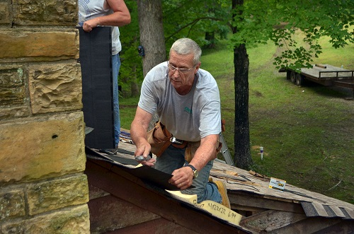 Nashville Building Trades volunteers rehab Boy Scouts cabin at Montgomery Bell