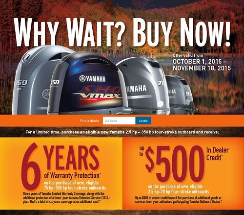 Why Wait, Buy Now Yamaha