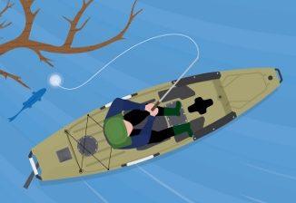 Landing a Big Fish From a Kayak