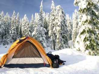 Winter camping by the Boy Scouts