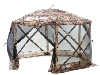 Escape Screen Shelter - 6-Side Camo-Black - with Wind Panel Flaps