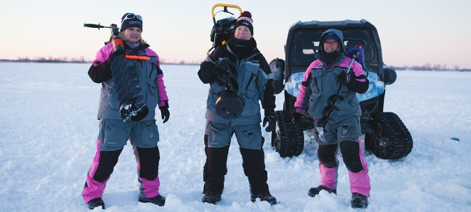Women Ice Angler Project on Lake Superior
