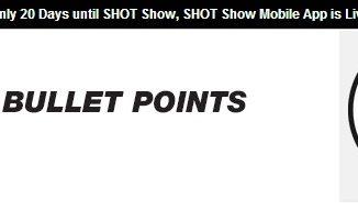 Bullet Points - Weekly Firearms Industry Newsletter - 1-3-2019